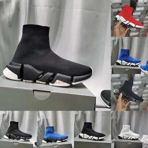 2021 Speed Utility Boot Entraîneur Triple S Paris Sock Chaussures Rouge Blanc Noir Tripler Gym tricot hommes Baskets homme femme qualité de Chaussures de course