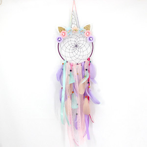 Unicorn Dream Catcher Ornament Home Decor Cars Living Room Bedroom Feathers Hanging Decoration New Pattern Multicolor New 15ms J2