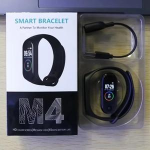 M4 Fitness Smart Bracelet IP67 waterproof Heart Rate Monitor Sleep monitoring smartwatch Wristbands Detachable colors cheap 50pcs
