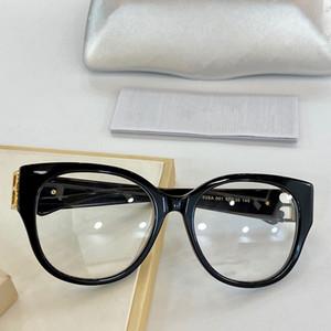 0103SA Neue Männer und Frauen klassische optische Gläser ovales Katzeauge Plank Rahmenbrille einfache Atmosphäre Artgläser heißen Verkauf mit Uhrgehäuse