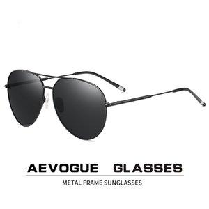 Aevogue Men Pilot Polarized Sunglasses Two Beams Blue Green Ocean Lens Unisex Sun Glasses Uv400 Ae0847