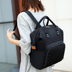 Large Capacity Mommy Travel Backpack Maternity Nappy Bag Pure Color Nursing Baby Bags Big Nylon Maternity Nappy Top handle Bags