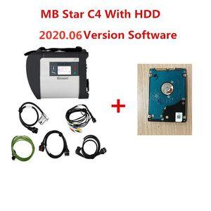 2020.09 Meilleure qualité MB STAR C4 avec le dernier logiciel complet 320GB HDD MB SD Connect Connect Compact 4 Outil de diagnostic DHL Livraison gratuite