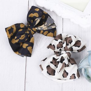 Cloth Leopard Pattern Bow Hairpin Middle Knotted Cute Female Clip Not Fall Off The Paint Metal Hair Accessories
