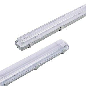 LED 고정 장치 IP54 T8 LED 튜브 지원 상업용 야외 통합 하드 와이어 4 피트. 증기 단단한 방수 방지 방지 방지