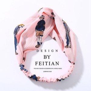 Iloveiy femmes turban torsadés chiffon floral bandeau floral filles élastiques filles fleur bande bande de cheveux bijoux q bbyyhh