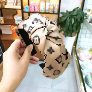 Vintage Headband Flower Knotted Hair Band For Women Fashion Korean Girls Hair Accessories Fairy Simple Striped Hairband Retro
