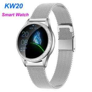 KW20 여성 스마트 시계 심장 박동 IP68 방수 보수계 블루투스 Smartwatch Huawei Android iOS에 대 한 여성 피트니스 팔찌