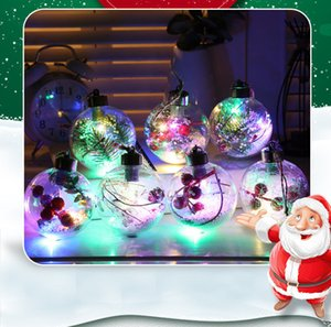 The latest LED colorful Christmas ball New product creative snowflake transparent Christmas ball Christmas celebration decoration
