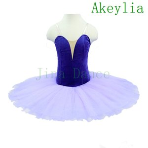 free shipping Lilac Girls velvet Professional Ballet Tutu without decoration For Women performance Show Stage Classical Tutu Costume Purple