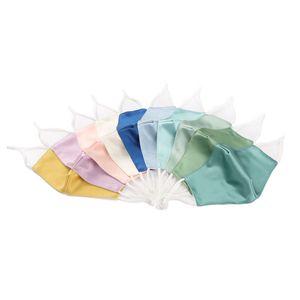 Reine Farbe Hochwertige Seidenmaske Weibliche Anti-Ultraviolett Sommer Dünne Gesichtsmaske Sonnencreme Atmungsaktive staubige Baumwollmaske