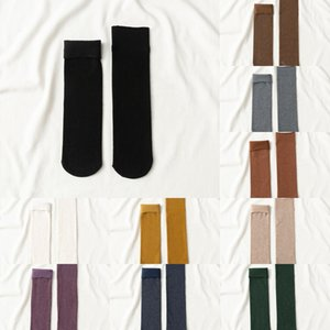 Sonbahar ve kış çocuk yuvasının çoraplar Ev döşeme peluş peluş kat sıcak ay Heat çorap snow çorap düz renk ZFZIX