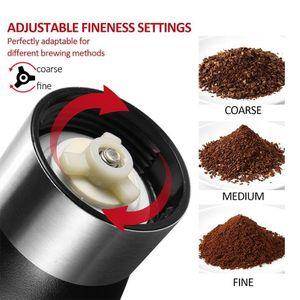 커피 그라인더 수동 세라믹 커피 그라인더 빨 수있는 ABS 세라믹 코어 스테인레스 스틸 홈 주방 미니 수동 coffe 기계 바다 DDC5228
