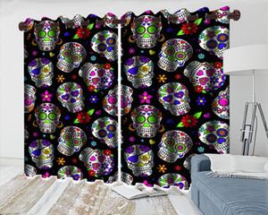 Bambino Camera Blackout 3d sipario moderna Beautiuful finestra 3d sipario colorato cranio pratica 3d Digital Printing Curtains