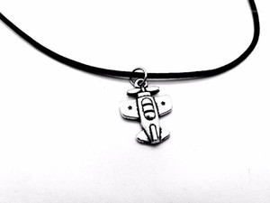 Pendant Necklaces Tiny Vintage Plane Necklace Harry European Airplane Aircraft Charm Leather Rope For Birthday Gifts1