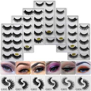 3D Silk Faux Mink Lashes Fake Premium Synthetic False Eyelashes Wholesale Natural Volume Eye Lashes Manufacturer G8 Series