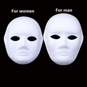 Erwachsene Masken Halloween für Full Face Diy Handbemalte Pulp verputzt Pappmaché Blank Großhandel Männer Frauen Plain Partei-Schablone
