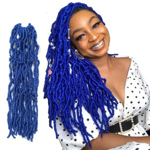 Nu Locs Crochet Braids 18inch Goddess crochet hair Extension Synthetic Faux Locs Braiding Hair For Women African