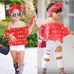 Bebek Kız Seti Giysi Çocuklar Moda Üst Pantolon İki Parçalı Çocuk Yaz Suit Kızlar Butik Kıyafetler