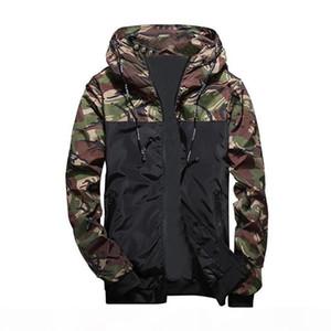Faroonee весна осень Mens Casual Camouflage Hoodie Jacket Men Водонепроницаемый Одежда мужская ветровка пальто Мужской тонкий Outwear 4XL