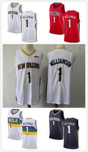 New Orleanss Pelicanss jersey 1 Zion Williamson red white color Basketball Jerseys 2020 Men youth kids 0909
