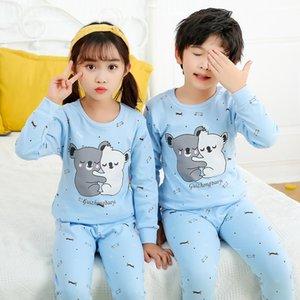Sonbahar Çocuk Boys pijamalar Pijama Çocuk Pijama Suit Bebek Kız Giyim Küçük Gençler Uzun Kollu Kızlar Pijamas ayarlar