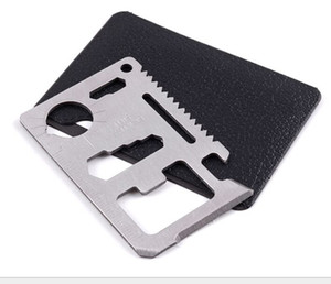 Hunting Camping Survival Pocket Knife 11 In 1 Multi Tools Credit Card Knife Stainless Steel Outdoors Gear Survival Tools