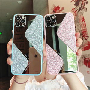 Women Rhinestone Diamond Mirror Phone Case For iPhone 12 11 Pro Max X XR XS Max Case For iPhone 6S 7 8 Plus Makeup Cover