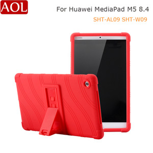 Soft Case For Huawei Mediapad M5 8.4 inch Silicone Stand Case For Huawei M5 8.4 SHT-AL09 SHT-W09 Rubber Tablet Case