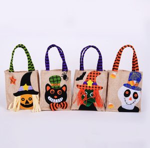 Halloween Candy Bags Cute Gift Bag Trick or Treat Kids Gift Pumpkin Witch Candy Boxes Halloween Party Decoration Supplies
