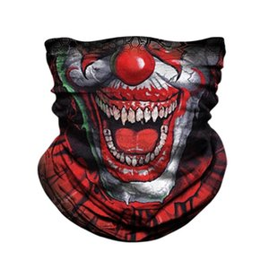 3D Clown Mascarillas braga cuello Bandana Neck Gaiter Cycling Face Shield Outdoors Windproof Headband Scarfs Women Men