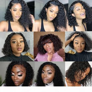 10A Brazilian Water Wave 360 Lace Frontal Wig 150% Density Lace Front Human Hair Wigs Water Wave