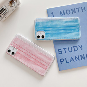 2021 Couple models Creative mask phone case for iphone11 pro max 7 8 plus X XR XS Max SE 2020 Soft TPU mobile phone shell Cover