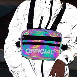 Bolsa de pecho para hombres Mujeres Multifunción Chalecte Streetwear Función reflectante Tactical Tactical Bolsa de plataforma de la cintura impermeable Paquetes C1026