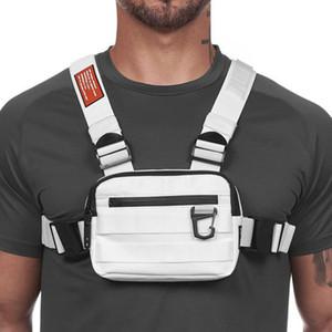 New Rig Uomo Casual Funzione Stile All'aperto Borsa toracica Small Tactical Vest Streetwear per Borse in vita maschile Kanye Q1221