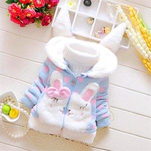BibiCola desenho animado outono inverno bebê meninas jaqueta meninas casaco com capuz moda quente snowsuit roupas outerwear grossas