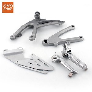 Front Driver Rider Foot Pegs For YZF R1 2007 2008 Bracket Footrests Footpegs YZF-R1 Foot Rests1