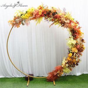 Serie arancione artificiale fiore autunno colore di Natale fai da te di nozze decorazioni floreali materiali arrangement fotografia puntelli piante