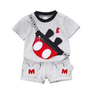 Nouveauté d'été Vêtements de bébé costume Enfants Fashion Garçons Filles Dessin animé T-shirt Short 2pcs / Set Toddler Vêtements décontractés Enfants Tracksuits LJ200916