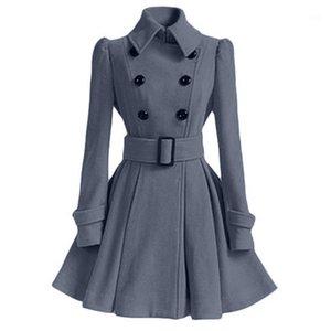LIVA Girl Womens Winter Revers Wollmantel Grabenjacke Langarm Overcoat Outwear1