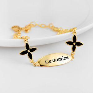 أساور هاواي سوار اسم مخصص المجوهرات أساور تشيان زهرة الطفل وأمي هاواي أساور بالجملة