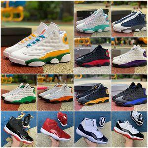 2021 Новый Jumpman 13 Hot Панч игры Royal 11 11s Mens Basketball обувь Black Cat 13s GS PlaygroundChicago такси DMP Женщины 12s Спортивные кроссовки