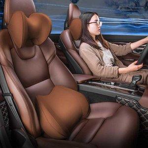 Car Neck Pillows Memory Cotton Leather Breathable Auto Car Neck Rest Headrest Cushion Pillow Interior Accessories1