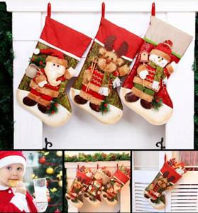 2020 Новогодние Детские Детские Рождественские Сезоки Конфеты Подарочная сумка Высококачественные Украшения Рождественские Носки Окно Дисплей Санты Носки Подарки