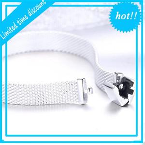 Genuine 925 womak sterling silver watch strand bracelets fit reflexions bracelet charm beads jewelry gift making 05MD OKS8