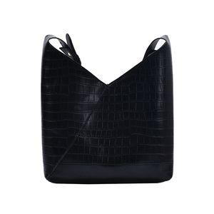 Stone Pattern PU Leather Shoulder Bags For Women 2020 Designer Lady Crossbody Bag Female Solid Color Handbags Bucket Bag