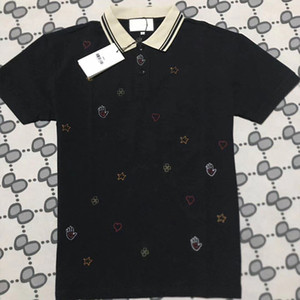 arı Polo gömlekler Erkek moda marka giyim kısa kollu calssic tişört Yüksek Kalite İşlemeli harfler adam İş Casual üstleri vuruşunu M-3XL