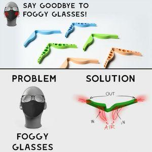 Puente de las narices de silicona Pájaros de la nariz Puentes de la nariz Diseño flexible Anti Fog Protection Accesorio de la tira Prevenir EyeGlasses Anti-Hoquing Clip YL560