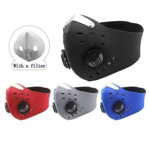 Face Mask Cycling Masks Dust-proof Windproof Anti-fog Activated Carbon Breathing Valve Masks Reusable Riding Mask With Filters GWE2024