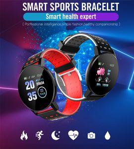 Pressão Tela LCD ID119 Além disso inteligente Pulseira de Fitness Rastreador pedômetro Watch Band Heart Rate Monitor de sangue relógio inteligente